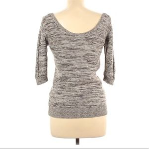 Roxy marbled scoop neck sweater large